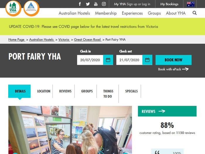 http://www.yha.com.au/hostels/vic/great-ocean-road/port-fairy/