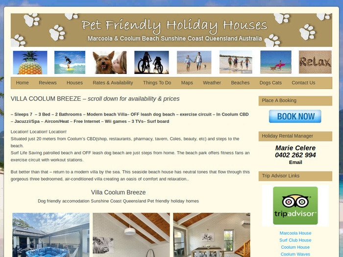 http://www.petfriendlyholidayhouses.com.au/sunshine-coast-holiday/villa-coolum-breeze/