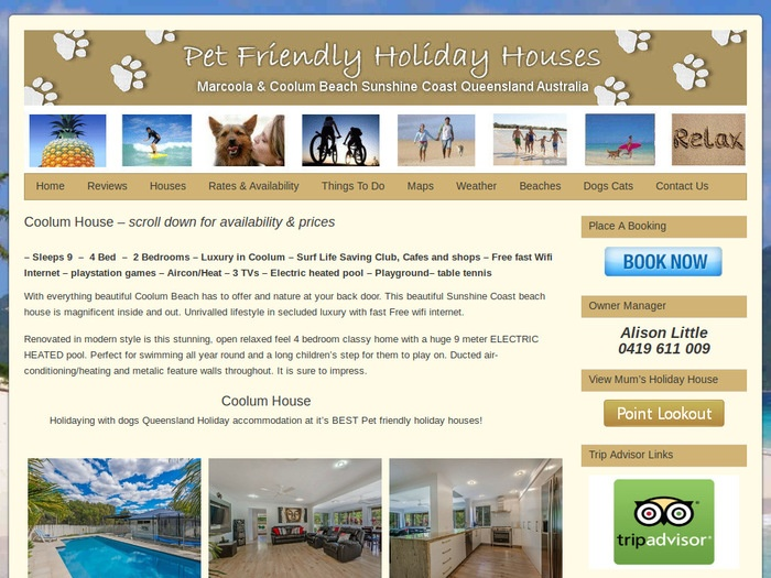 http://www.petfriendlyholidayhouses.com.au/sunshine-coast-holiday/coolum-house/