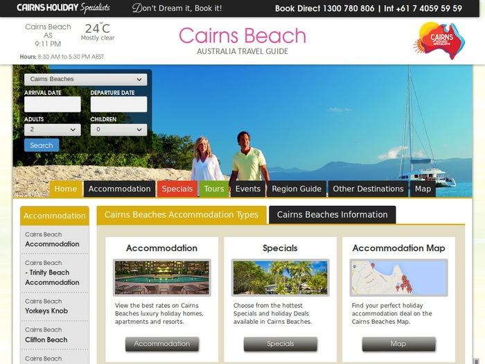 http://www.cairnsbeachaccommodation.com.au/