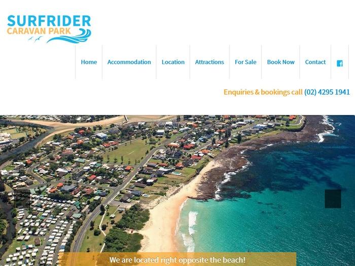 http://www.surfridercaravanpark.com.au/