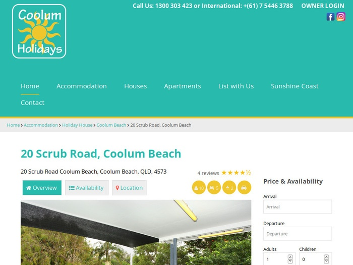 http://www.coolumholidays.com.au/accommodation/Coolum-Beach/House/5093-20-Scrub-Road-Coolum-Beach-Pet-Friendly-Linen-included/