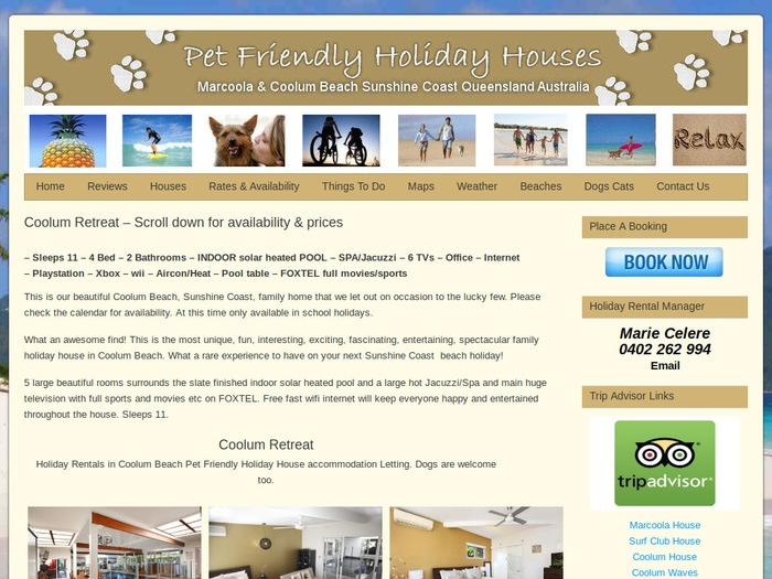 http://www.petfriendlyholidayhouses.com.au/sunshine-coast-holiday/coolum-beach-retreat/